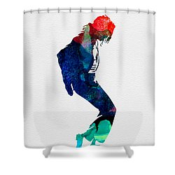 Michael Watercolor Shower Curtain by Naxart Studio