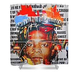 Michel Basquiat Shower Curtain
