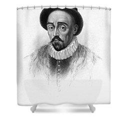 Michel Eyquem De Montaigne Shower Curtain by Granger