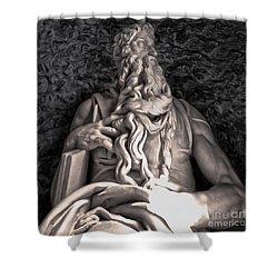 Michelangelo Moses Shower Curtain