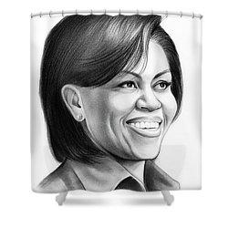 Michelle Obama Shower Curtain