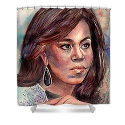 Michelle Obama Portrait Shower Curtain