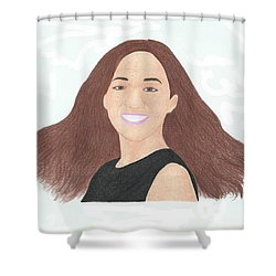 Michelle Phan Shower Curtain