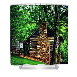 Shower Curtain featuring the photograph Michie Tavern No. 2 by Laura DAddona