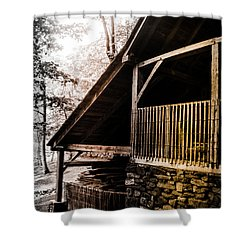 Shower Curtain featuring the photograph Michie Tavern No. 5 by Laura DAddona