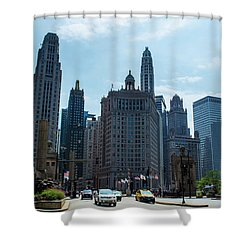 Michigan Avenue Bridge And Skyline Chicago Shower Curtain