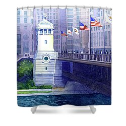 Michigan Avenue Bridge Shower Curtain