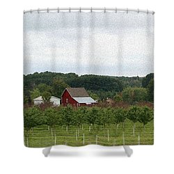 Shower Curtain featuring the photograph Michigan Barn In The Fall by Ellen O'Reilly