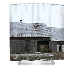 Michigan Barn Shower Curtain by Kathie Chicoine