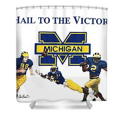 Michigan Heismans Shower Curtain
