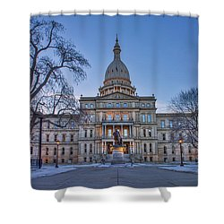 Shower Curtain featuring the photograph Michigan State Capitol by Nicholas Grunas