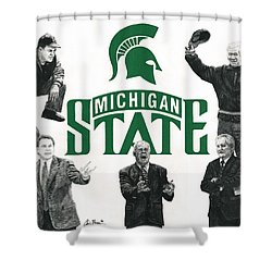 Michigan State Coaching Legends Shower Curtain