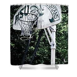 Michigan State Practice Hoop Shower Curtain