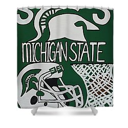 Michigan State Spartans Shower Curtain by Jonathon Hansen