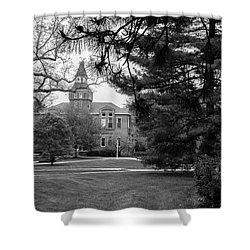 Michigan State University Campus Black And White  Shower Curtain by John McGraw