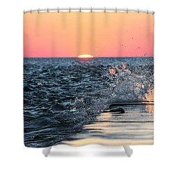 Michigan Summer Sunset Shower Curtain by Bruce Patrick Smith