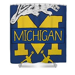 Michigan Wolverines Shower Curtain by Jonathon Hansen