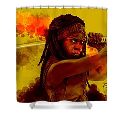 Michonne Shower Curtain