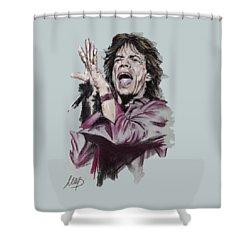 Mick Jagger Shower Curtain