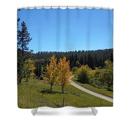Mickelson Trail Shower Curtain