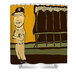 Mickey Mantle Yankee Stadium Shower Curtain by Jay Perkins