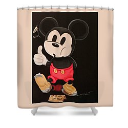 Mickey On Tap Shower Curtain