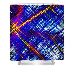 Micro Linear 6 Shower Curtain by Will Borden