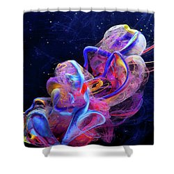 Micro Space - Colorful Abstract Photography Shower Curtain