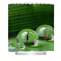 Microcosms Shower Curtain by Mariarosa Rockefeller