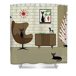 Mid-century Christmas Shower Curtain