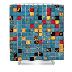 Mid Century Tiles Shower Curtain by Christopher Woods
