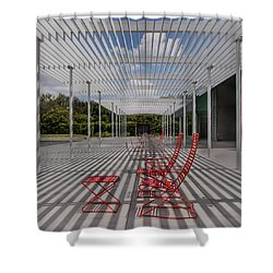 Mid-day Lines Shower Curtain
