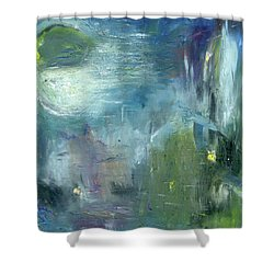 Shower Curtain featuring the painting Mid-day Reflection by Michal Mitak Mahgerefteh