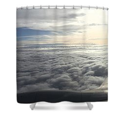 Mid Heaven Flight Shower Curtain