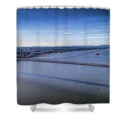 Mid-hudson Bridge In Spring Shower Curtain