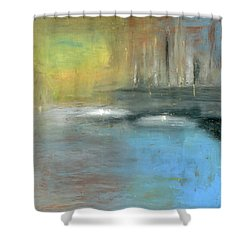 Shower Curtain featuring the painting Mid-summer Glow by Michal Mitak Mahgerefteh