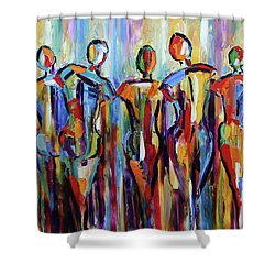 Mid Summer Nights Gathering Shower Curtain