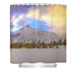 Mid-winter Sunset Shower Curtain