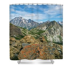 Midday At Iron Peak Shower Curtain by Ken Stanback