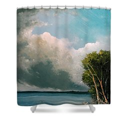 Midday Clouds Shower Curtain