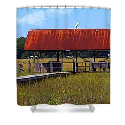 Shower Curtain featuring the photograph Midday Island Creek View by Deborah Smith