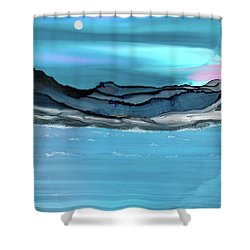Midday Moon Shower Curtain