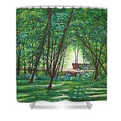 Midday Slumber -indian Landscapes Shower Curtain by Usha Shantharam