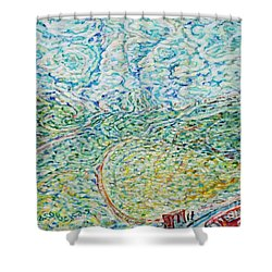 Midday Steam Shower Curtain