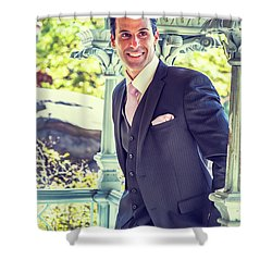 Middle Age Man Waiting For You Shower Curtain
