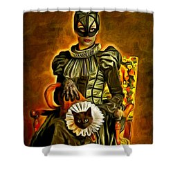 Middle Ages Catwoman - Da Shower Curtain
