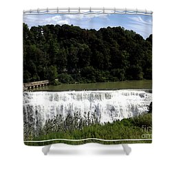 Middle Falls In Rochester New York Shower Curtain by Rose Santuci-Sofranko