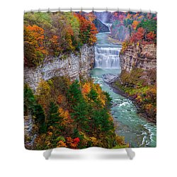 Middle Falls Of Letchworth State Park Shower Curtain