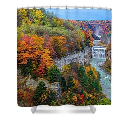 Middle Falls Peak Shower Curtain