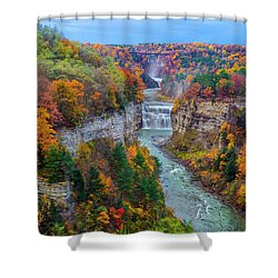 Middle Falls Peak Shower Curtain by Mark Papke